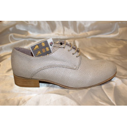 Zapato cordón plateado