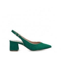 Zapato destalonado verde