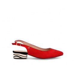 Zapato destalonado cebra