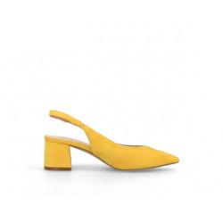 Zapato destalonado amarillo