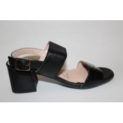 Sandalia tacón negra