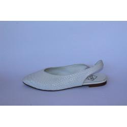 Zapato destalonado blanco